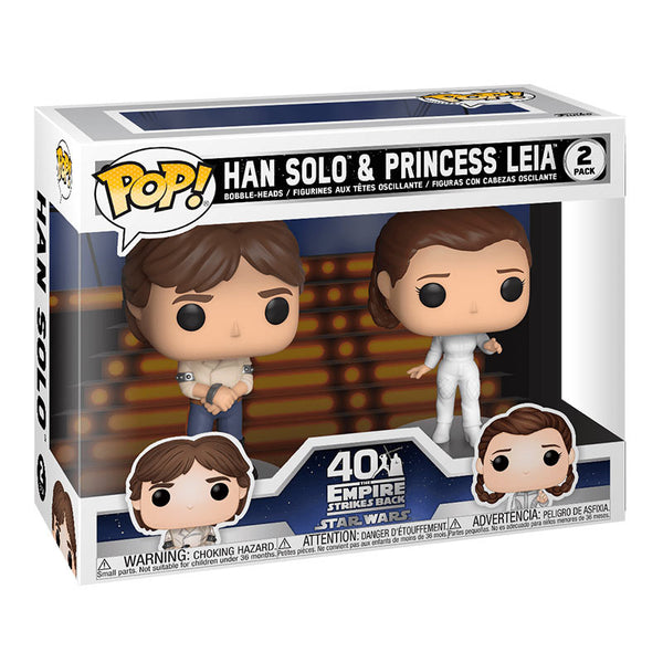 Funko Pop! Star Wars Pack 2 Han Solo & Princess Leia
