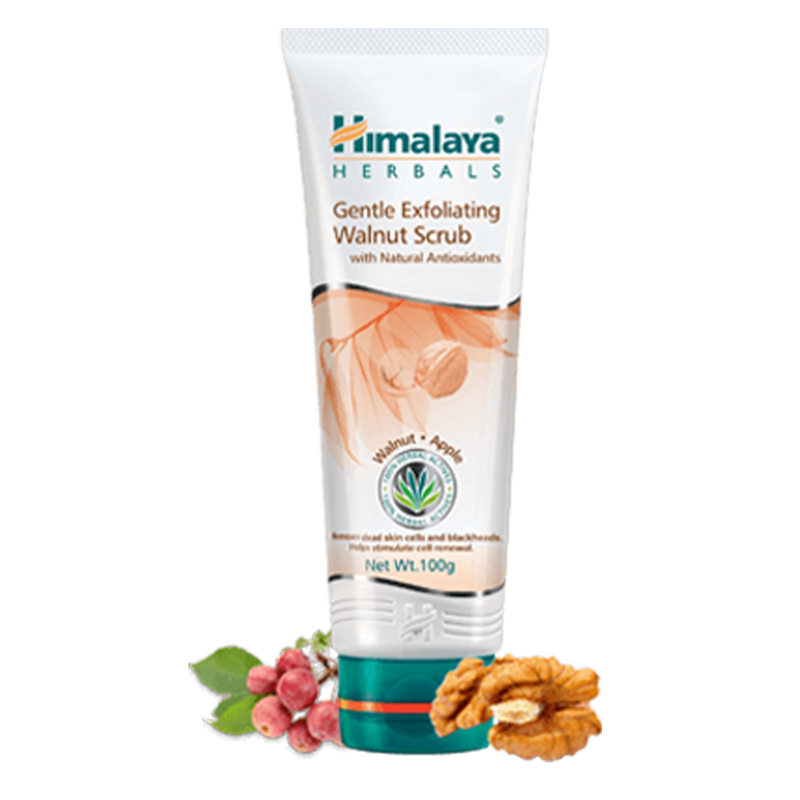 Himalaya Gentle Exfoliating Walnut Scrub - Removes Dirt & Blackheads