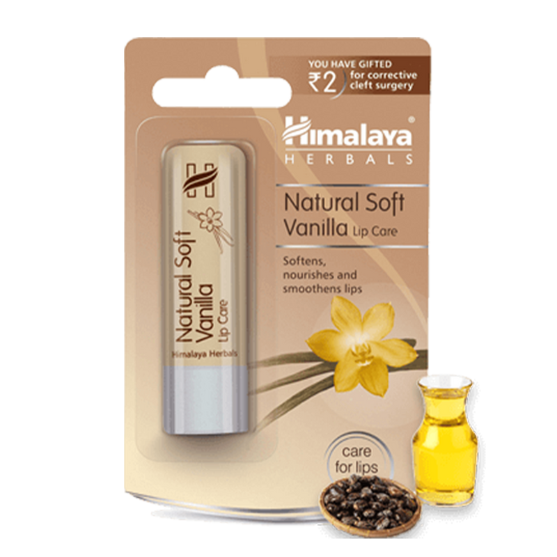 Himalaya Natural Soft Vanilla Lip Care - Keeps your Lips Soft & Supple