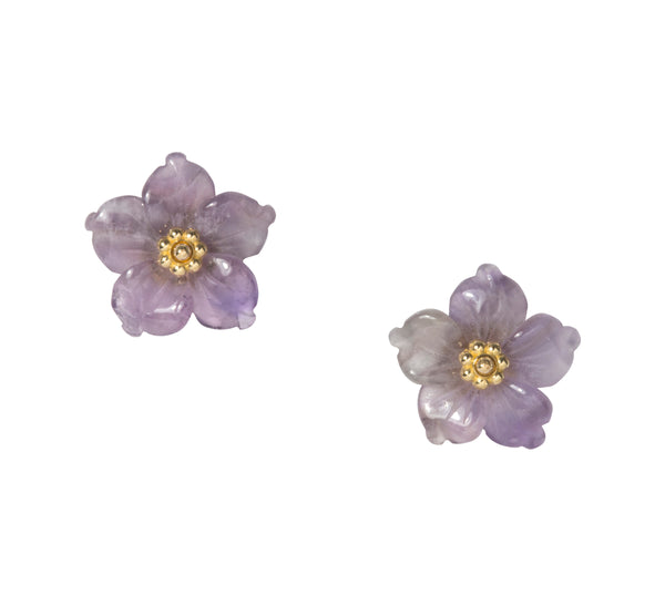 Mini Collection Meeting Street Baby Stud Flower Earrings