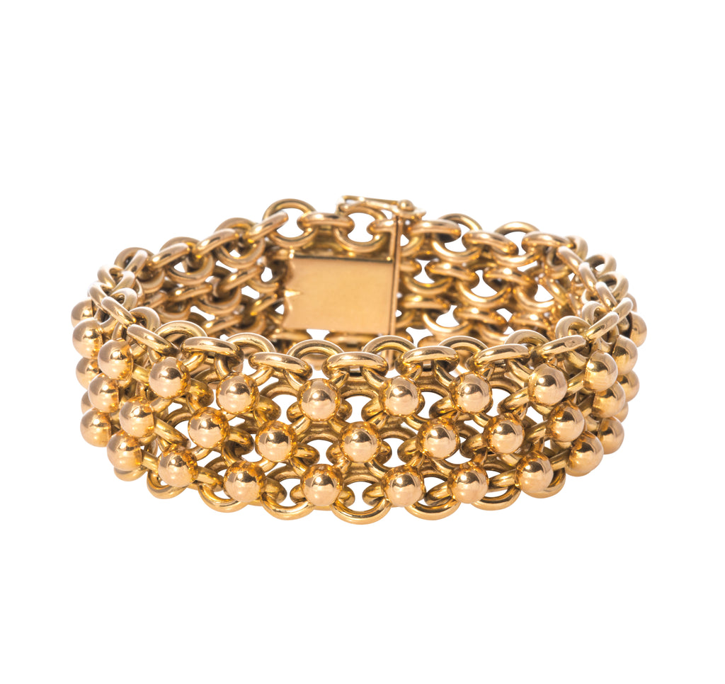 Estate French Chain Link Bracelet