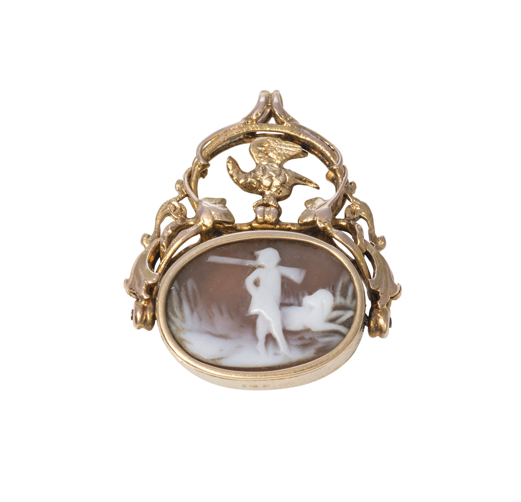 Victorian Cameo Swivel Wax Seal Fob
