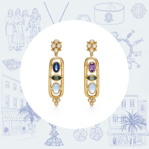 Temple St. Clair Theodora Cartouche Earrings