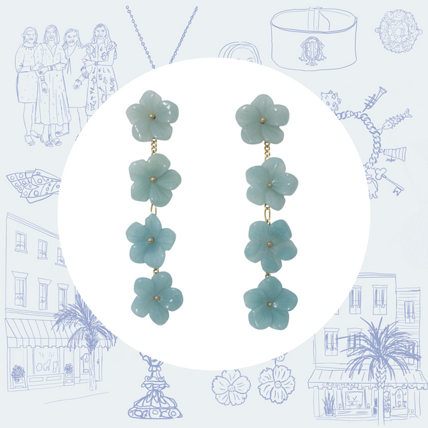 The Mini Collection Tradd Street Multi-Flower Drop Earrings