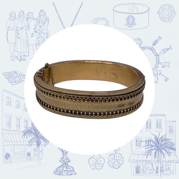 Antique Gold-Filled Bangle Bracelet