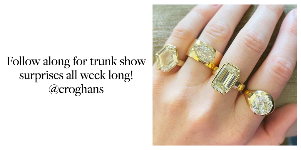Follow along for trunk show surprises all week long!