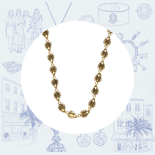 Goldbug Tiny Bug Chain Long Necklace