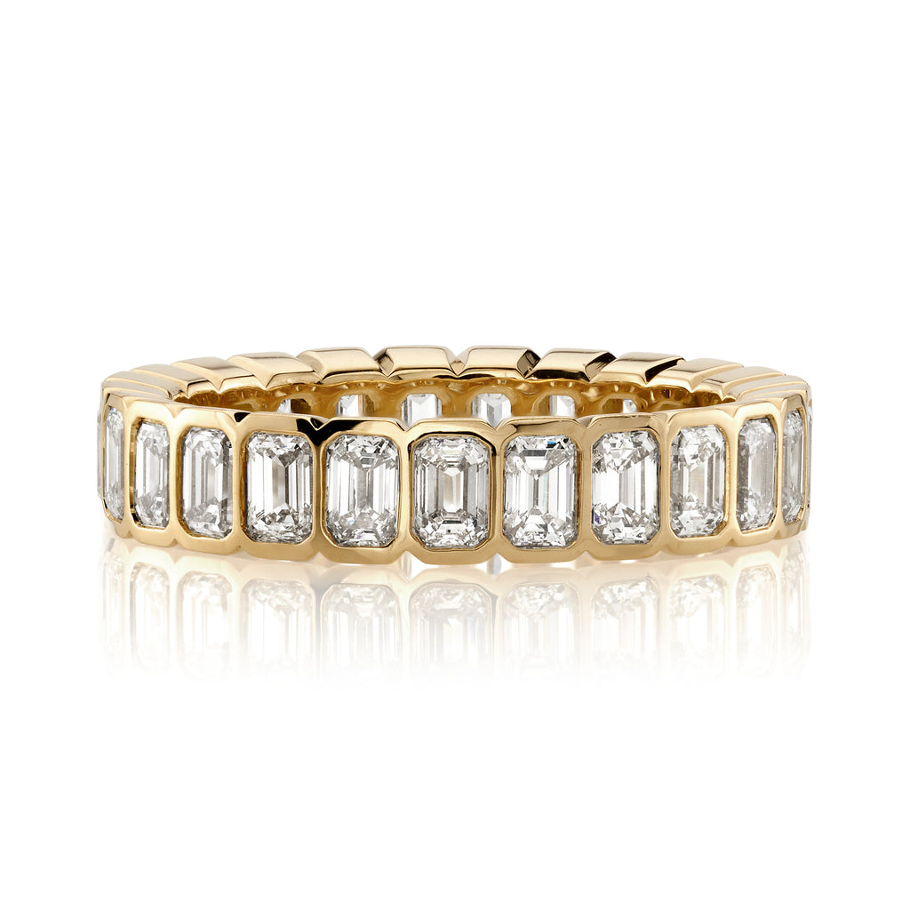 Single Stone Athena Diamond Eternity Wedding Band