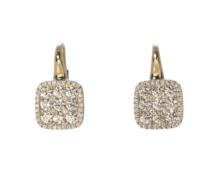 Diamond Firenze Cushion Earrings