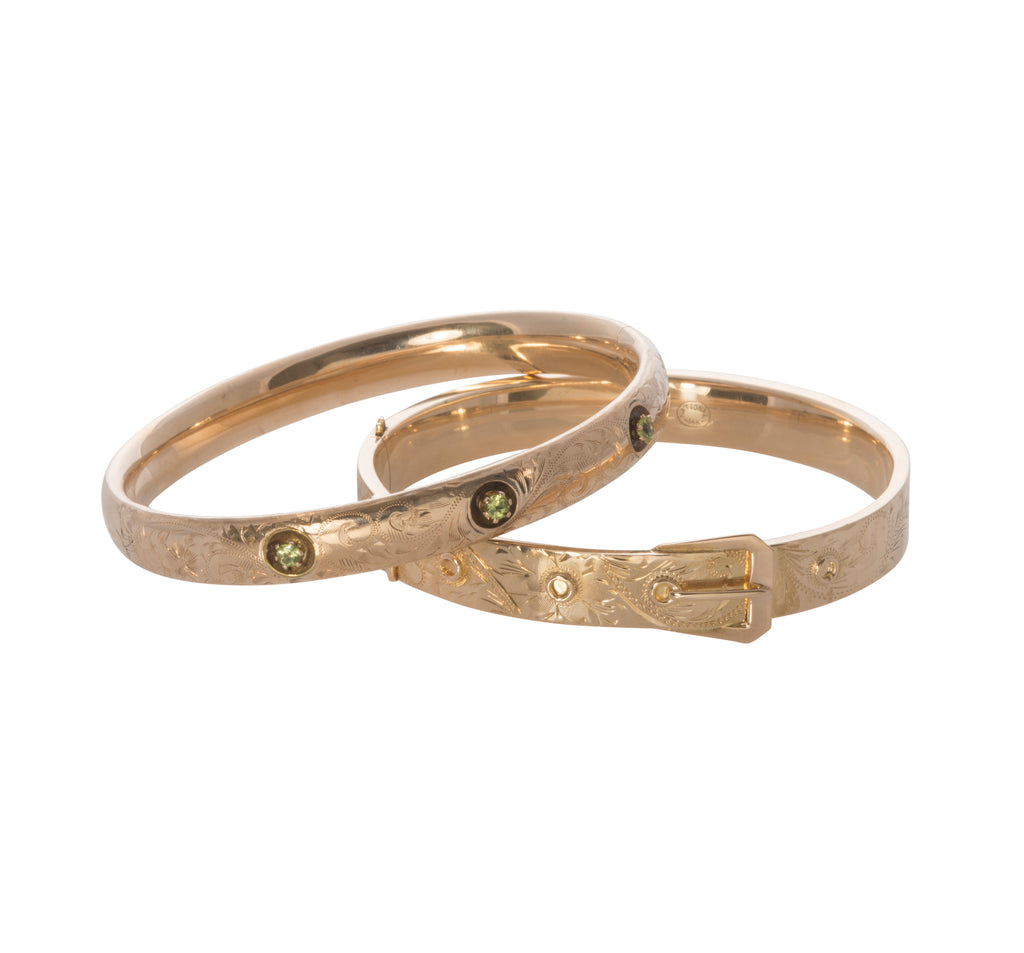 Estate & Antique Gold Bangle Bracelets