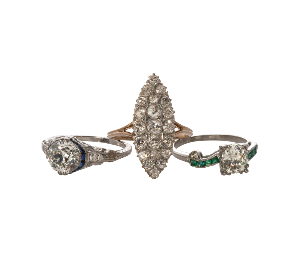Estate & Antique Diamond Engagement Rings