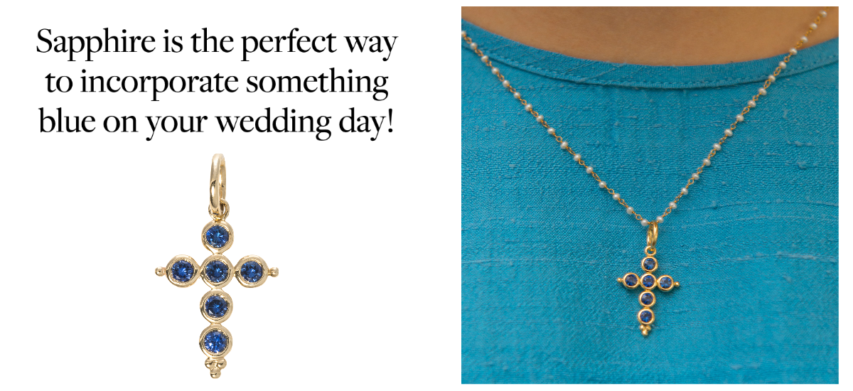 Sapphire is the perfect way to incorporate something blue on your wedding day!