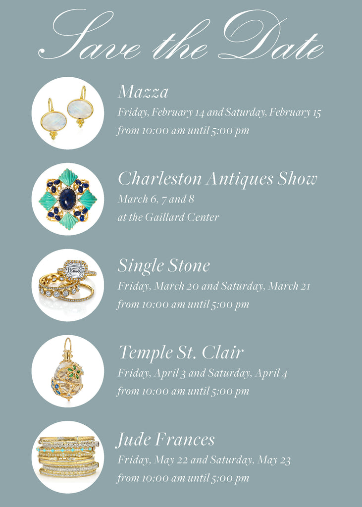 Save the Date Events and Trunk Shows Spring 2020