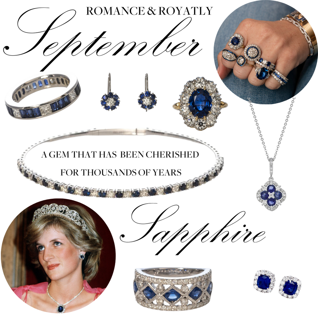 September Sapphire a romantic, royal gem that has been cherished for thousands of years.