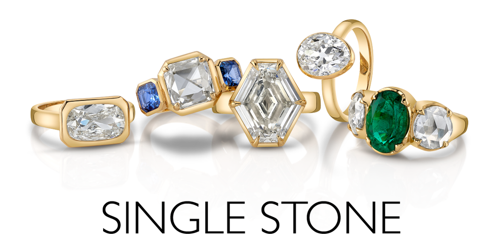 Single Stone assorted ring tumble