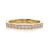 Single Stone Reilyn 18K Yellow Gold Band