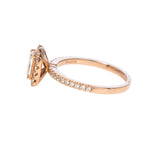 Christopher Designs L'Amour Crisscut® Diamond Rose Gold Engagement Ring