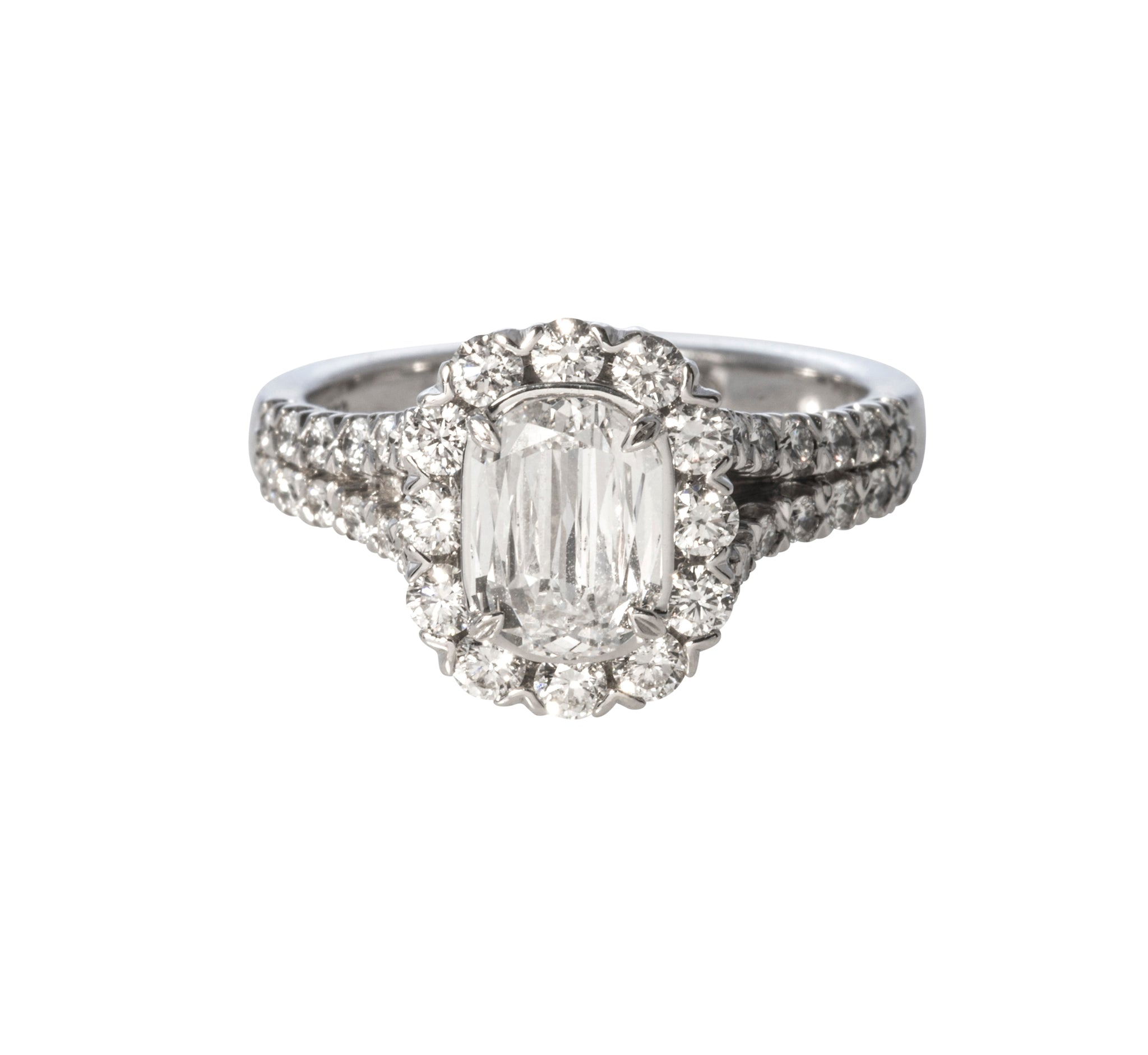 Christopher Designs Crisscut Diamond Engagement Ring