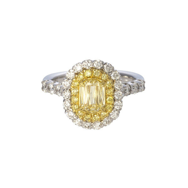Christopher Designs L'Amour Crisscut® Yellow Diamond Engagement Ring