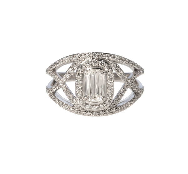 Christopher Designs Crisscut Diamond Ring