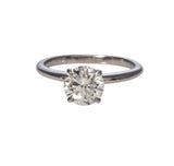 1.50ct Diamond Solitaire 14K White Gold Engagement Ring