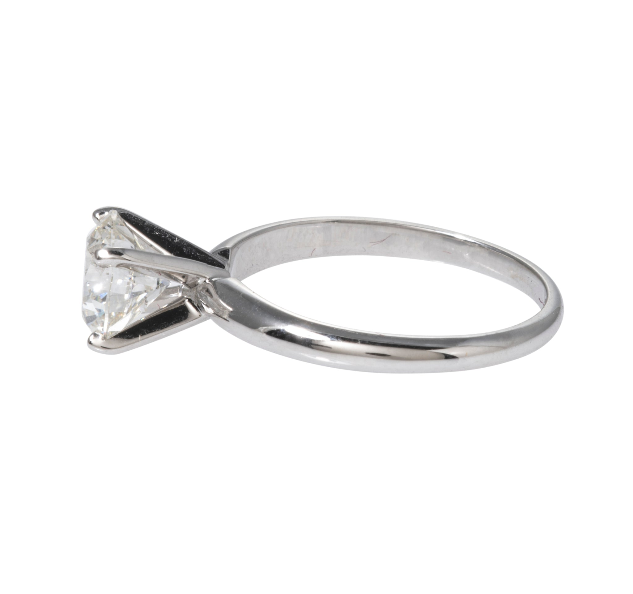 1.51ct Diamond Solitaire 14K White Gold Engagement Ring