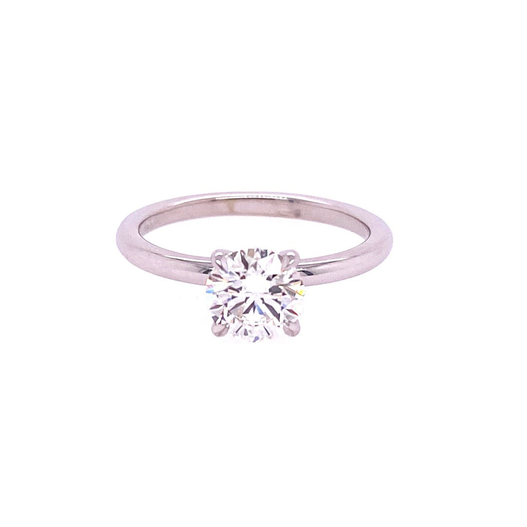 1.01ct Diamond Solitaire 14K White Gold Engagement Ring