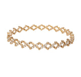 Diamond & Yellow Gold Multi-Size Ring or Bracelet