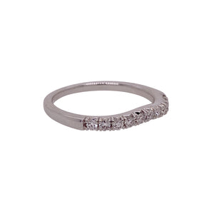 .23ct Diamond Halfway Curved 14K Gold Band