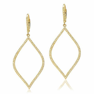 Diamond Silhouettes Open Marquis Drop Earrings