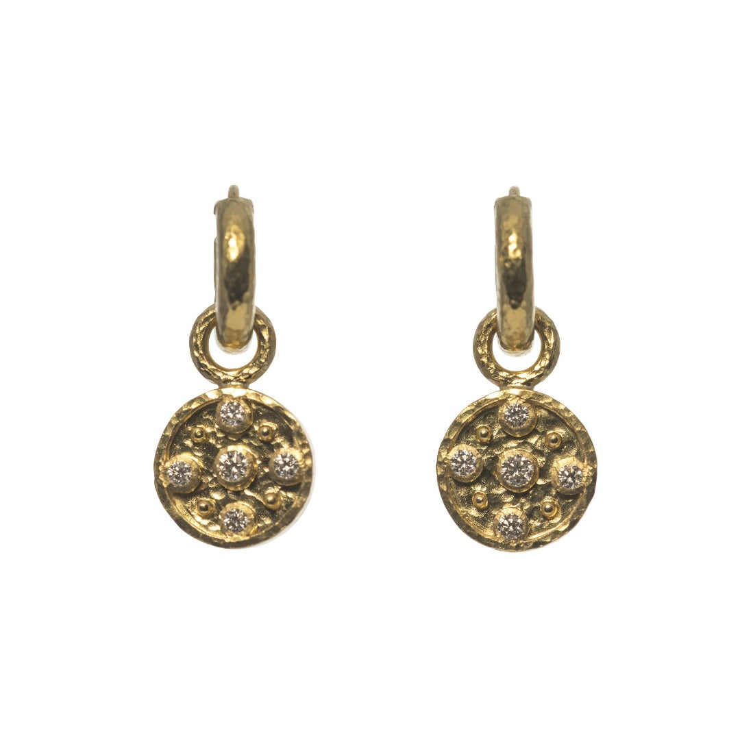 Elizabeth Locke Diamond Disk Earring Charms