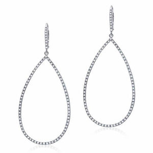 Diamond Silhouettes Open Teardrop Earrings