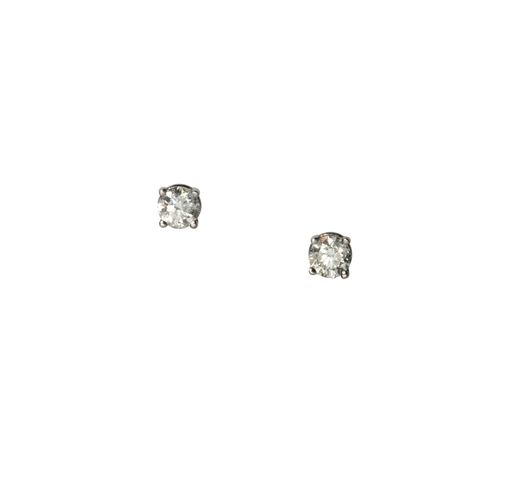 .48ct EF SI2 Diamond 14K White Gold Stud Earrings