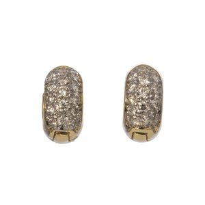 1 Carat Diamond 18K Yellow Gold Huggie Earrings