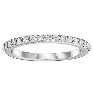 .21ct Diamond 14K White Gold Halfway Band