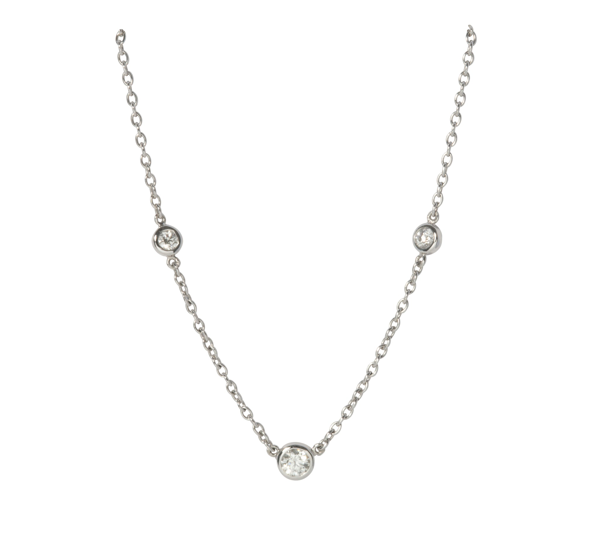 Diamonds by the Yard 3-Station Necklace