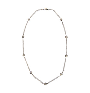 Diamonds by the Yard 9-Station 14K White Gold Necklace