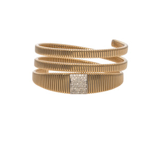 Diamond Station Triple Wrap Flex Bracelet