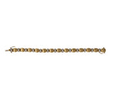 Estate Italian Diamond Two-Tone 18K Gold Bracelet