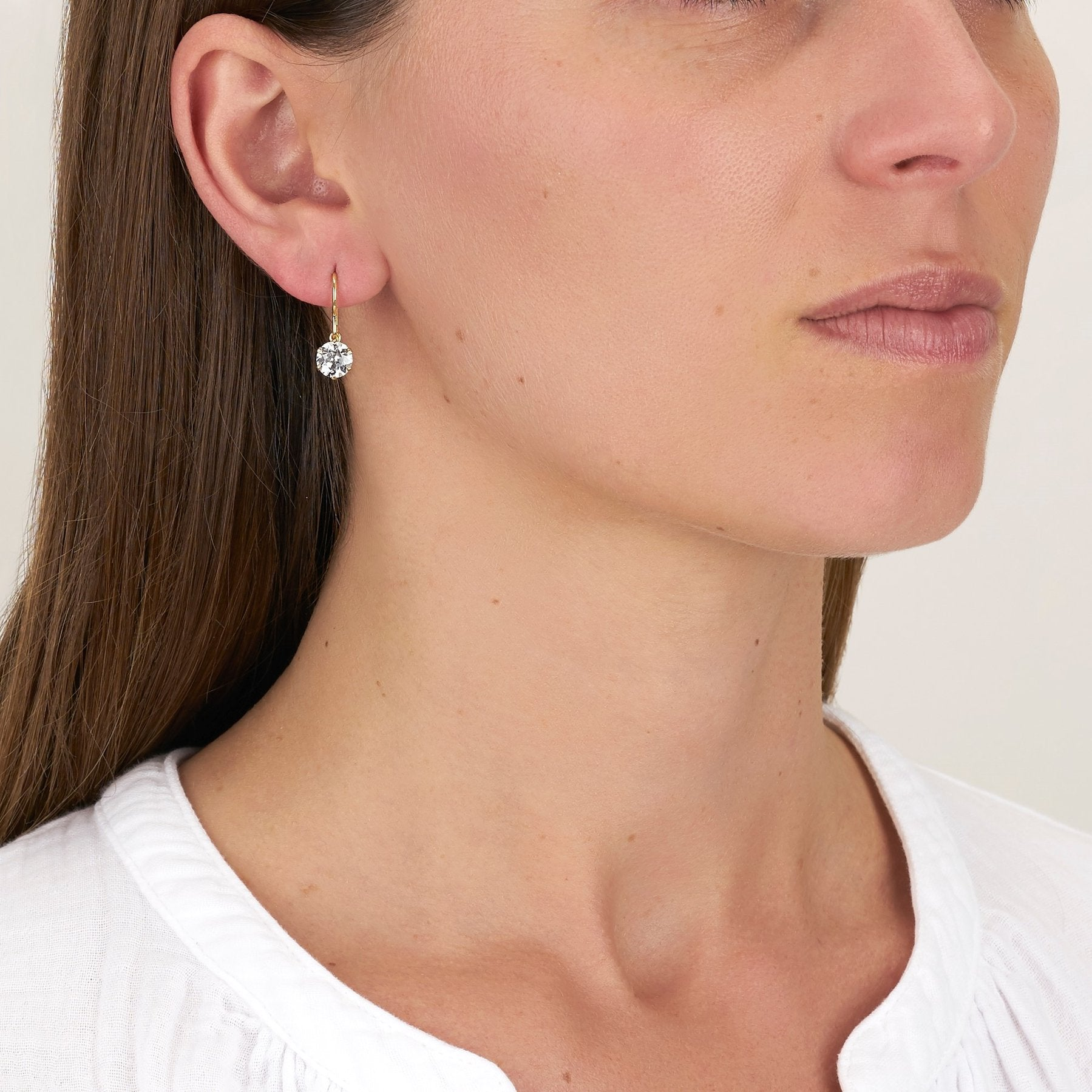 Single Stone Gia Drop Earrings