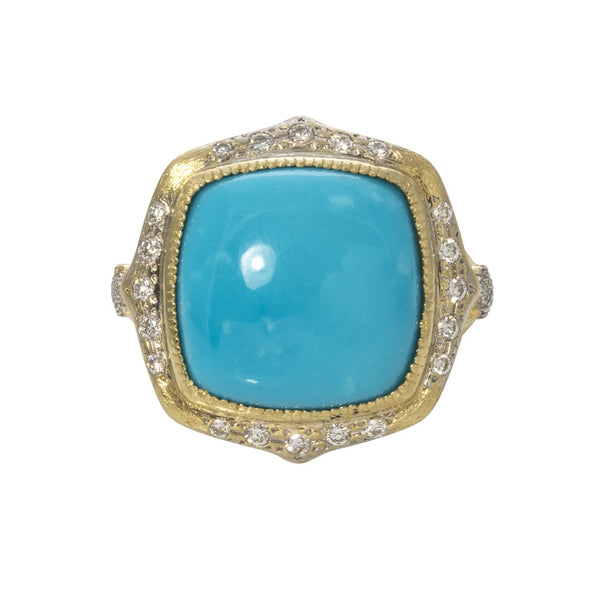 JudeFrances Moroccan Cushion Turquoise Ring