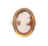 Italian Carved Shell Cameo Ring