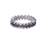 3-Row Sapphire & Diamond Multi-Size Band