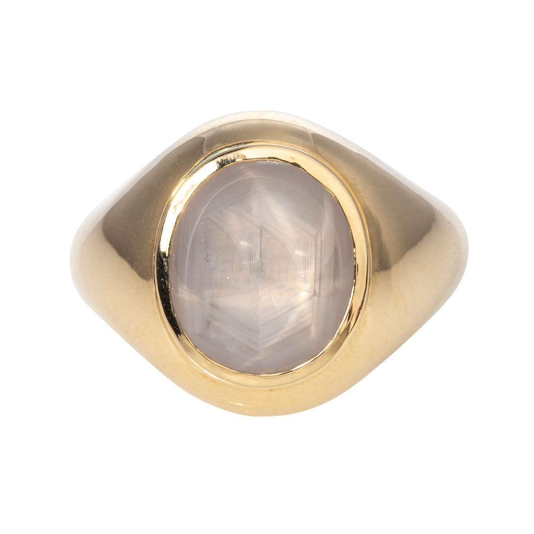 Star Sapphire & 14K Yellow Gold Ring