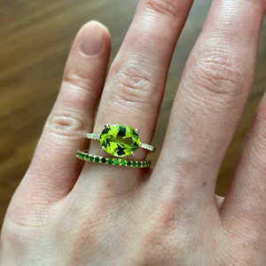 Chrome Diopside 14K Yellow Gold Eternity Band