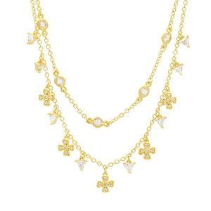 Freida Rothman Harmony Double Strand Short Necklace