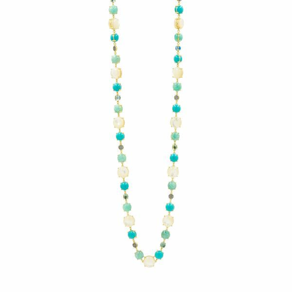 Freida Rothman Multi-Stone Long Necklace