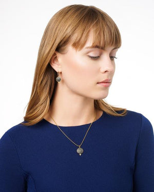 Freida Rothman Pave Disc Pendant Necklace