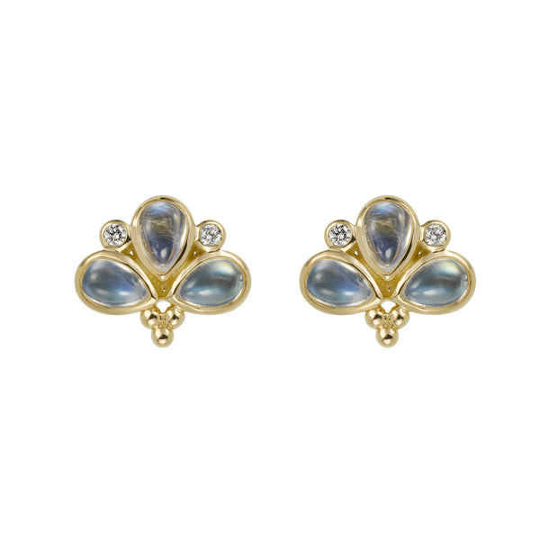 Temple St. Clair Moonstone Fan Earrings