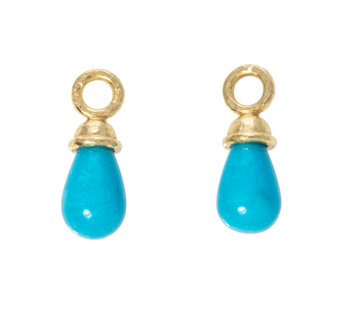 Elizabeth Locke Turquoise Drop Earring Charms